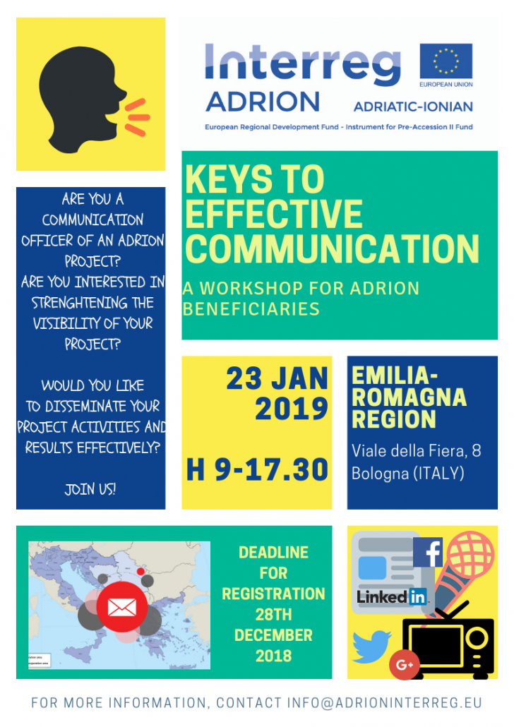 KEYS TO EFFECTIVE COMMUNICATION – SAVE THE DATE! – Interreg